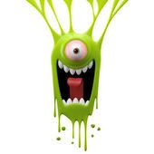Photo Dangle green screaming monster