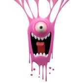 Photo Dangle pink screaming monster