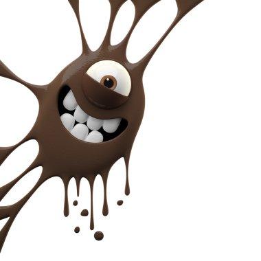 Brown smiling monster