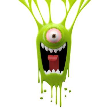 Dangle green screaming monster
