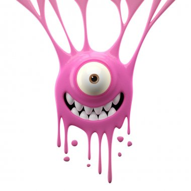 Dangle pink joyful monster