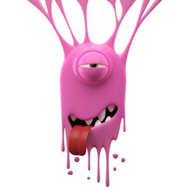 Dangle pink tired monster