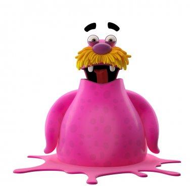 Pink surprised walrus