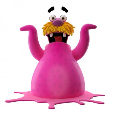 Pink excited walrus