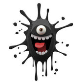 Photo Exciting black one-eyed monster