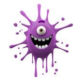 Photo Happy purple one-eyed monster