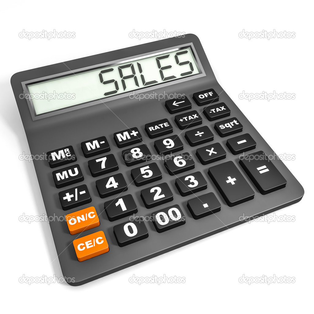 calculator with sales on display stock photo icreative3d 43922871