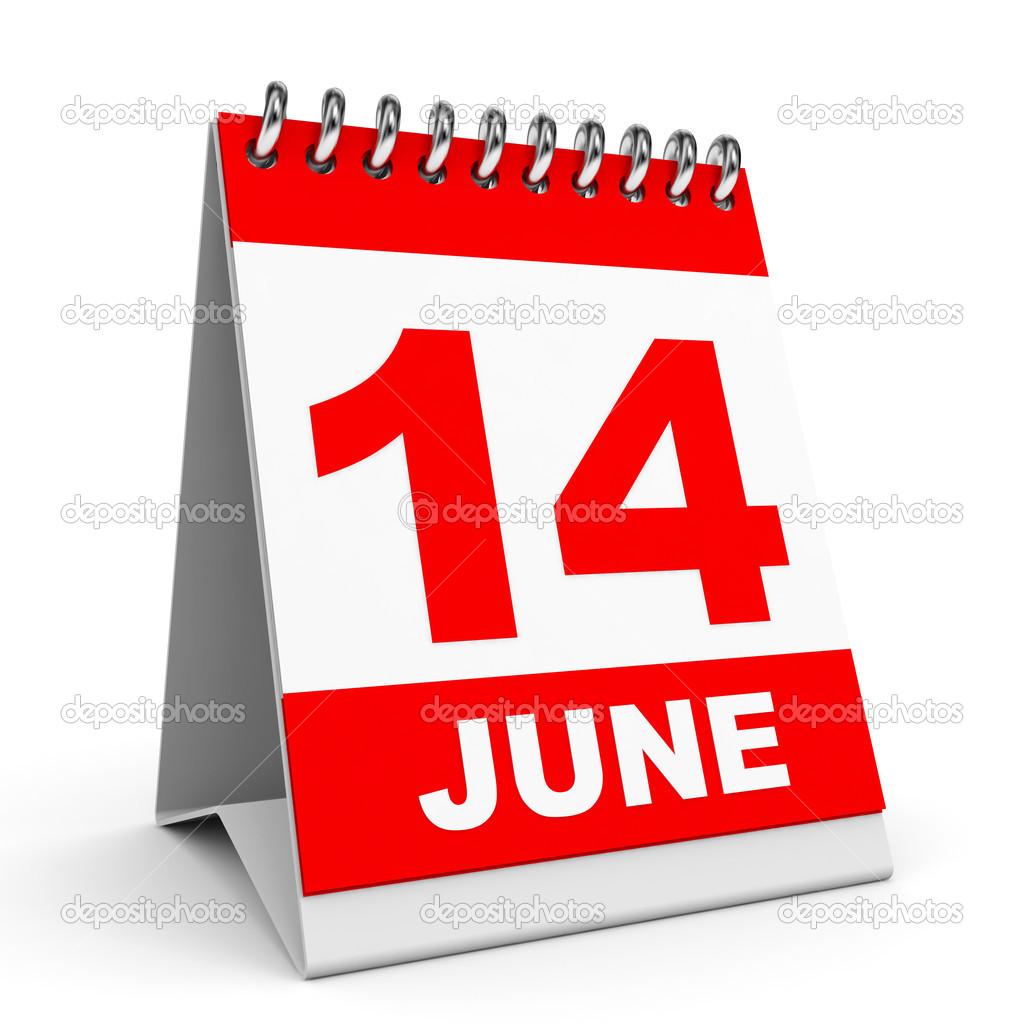 カレンダーです。6 月 14 日 — ...
