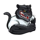 Fotografia mascotte pantera nera, logo della squadra
