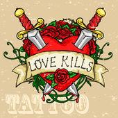 Fotografia disegno tatuaggio cuore