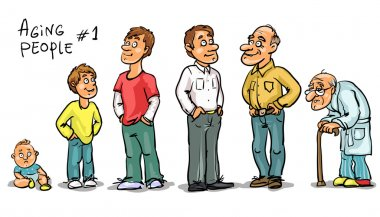 Men at different ages