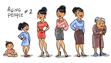Women at different ages