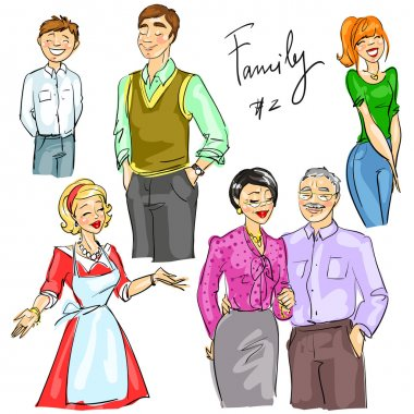 Multi generation family members