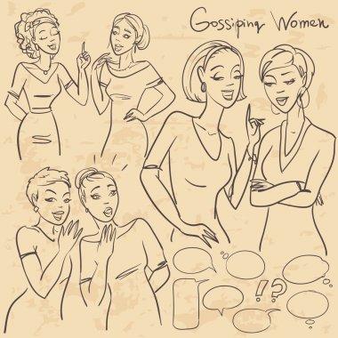 Gossiping girls, chatting women