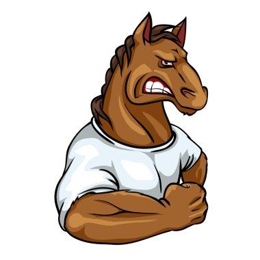 Horse mascot, team logo