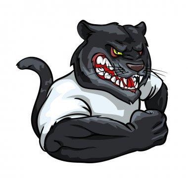 Black panther mascot, team logo