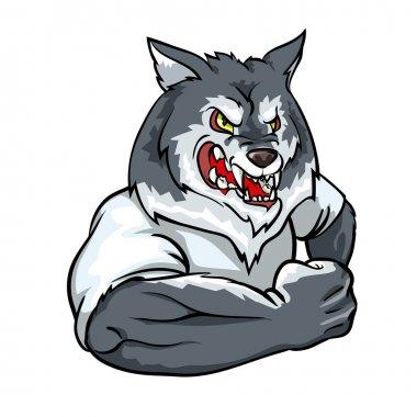 Wolf mascot, team logo