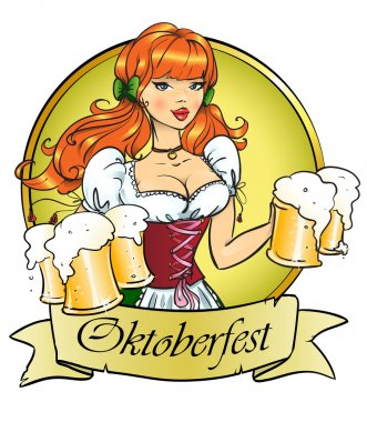Girl with beer, Oktoberfest or St. Patrick's day