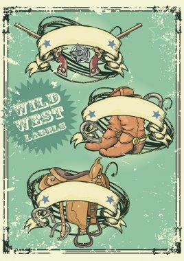 Retro style Wild West logos