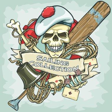Sailor skull logo
