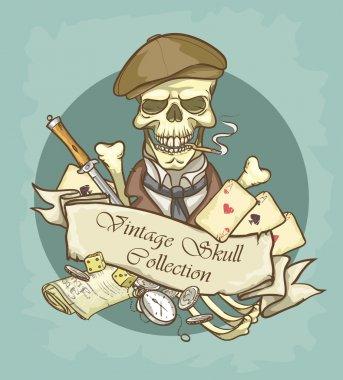 Gentleman's skull logo