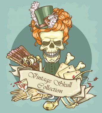 Lady's skull logo