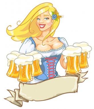Girl with beer, Oktoberfest