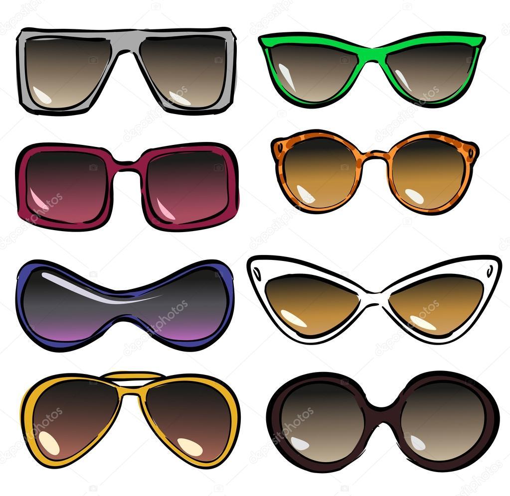 f530a2451c Sunglasses — Stock Vector © nataliahubbert  43419603