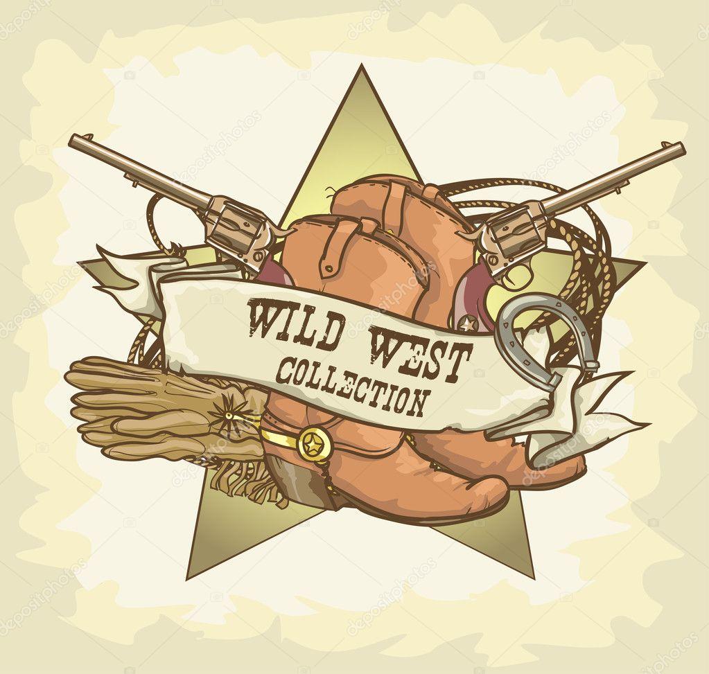 Wild west design stock vector nataliahubbert 43419829 for Wild design