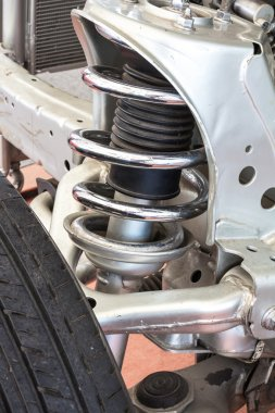Shock and Brake Assembly on High Performance Car