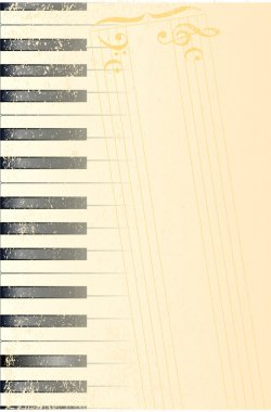 Antique Piano Background
