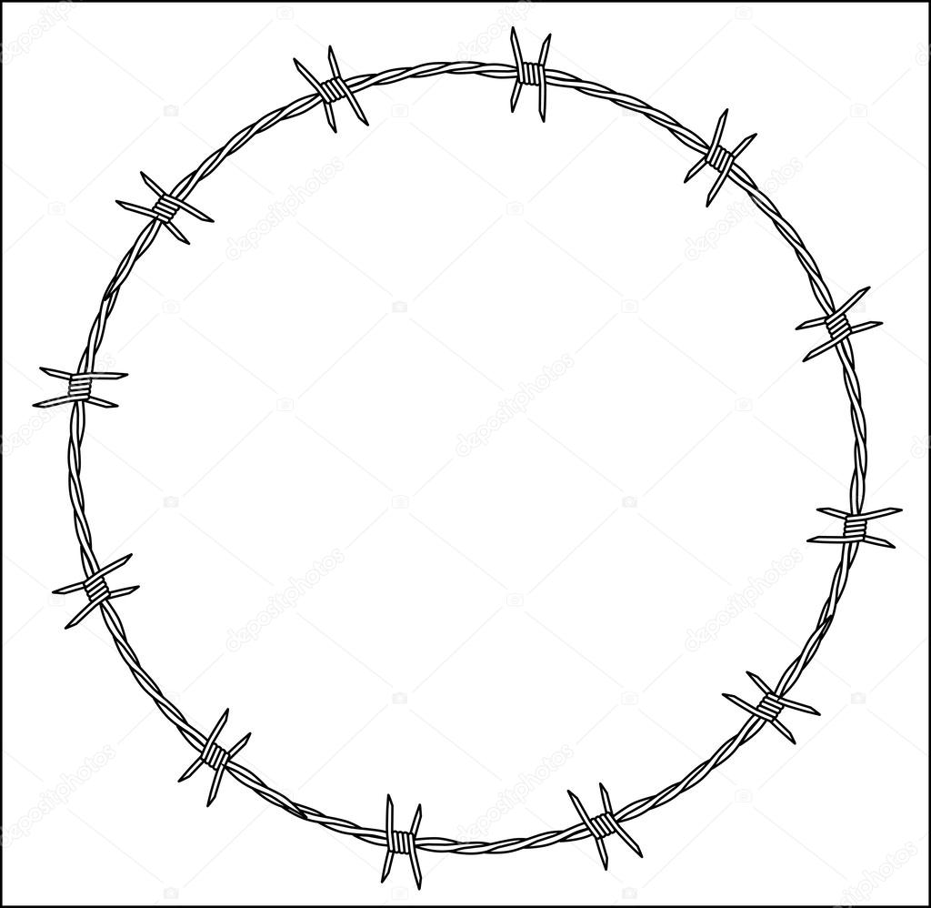 Barbed Wire Crown of Thorns — Stock Vector © BigAlBaloo #44533263