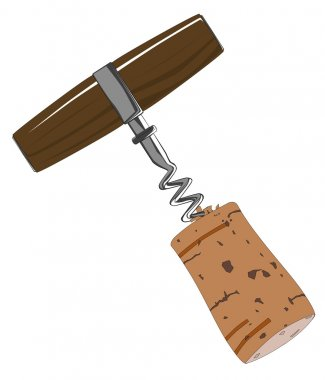Corkscrew with Cork