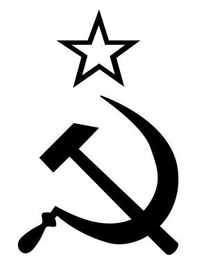 Hammer ans Sickle Black and White