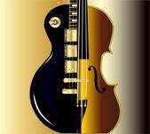 Fotografie housle, kytara morph