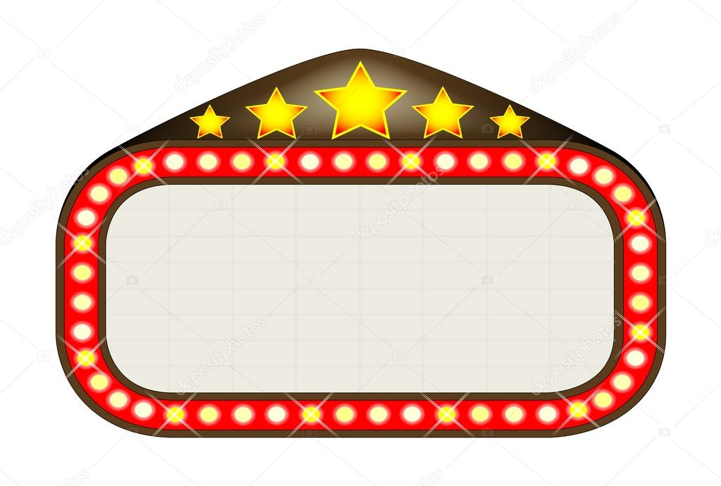 Cinema marquee stock vector c bigalbaloo 44931461 for Theatre sign clipart