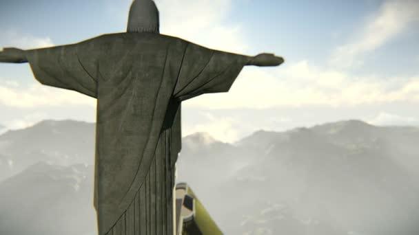 letadlo přijíždějící v rio de janeiro a Krista Spasitele
