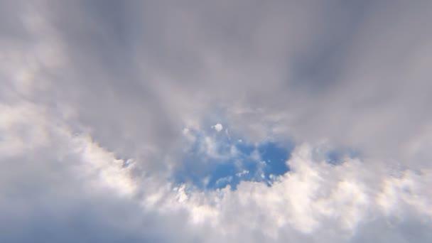 A nap felhők között