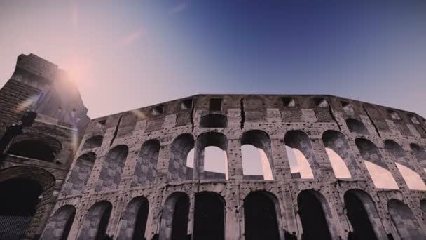 letadlo letící nad Kolosea