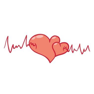 Beating heart clip art vector