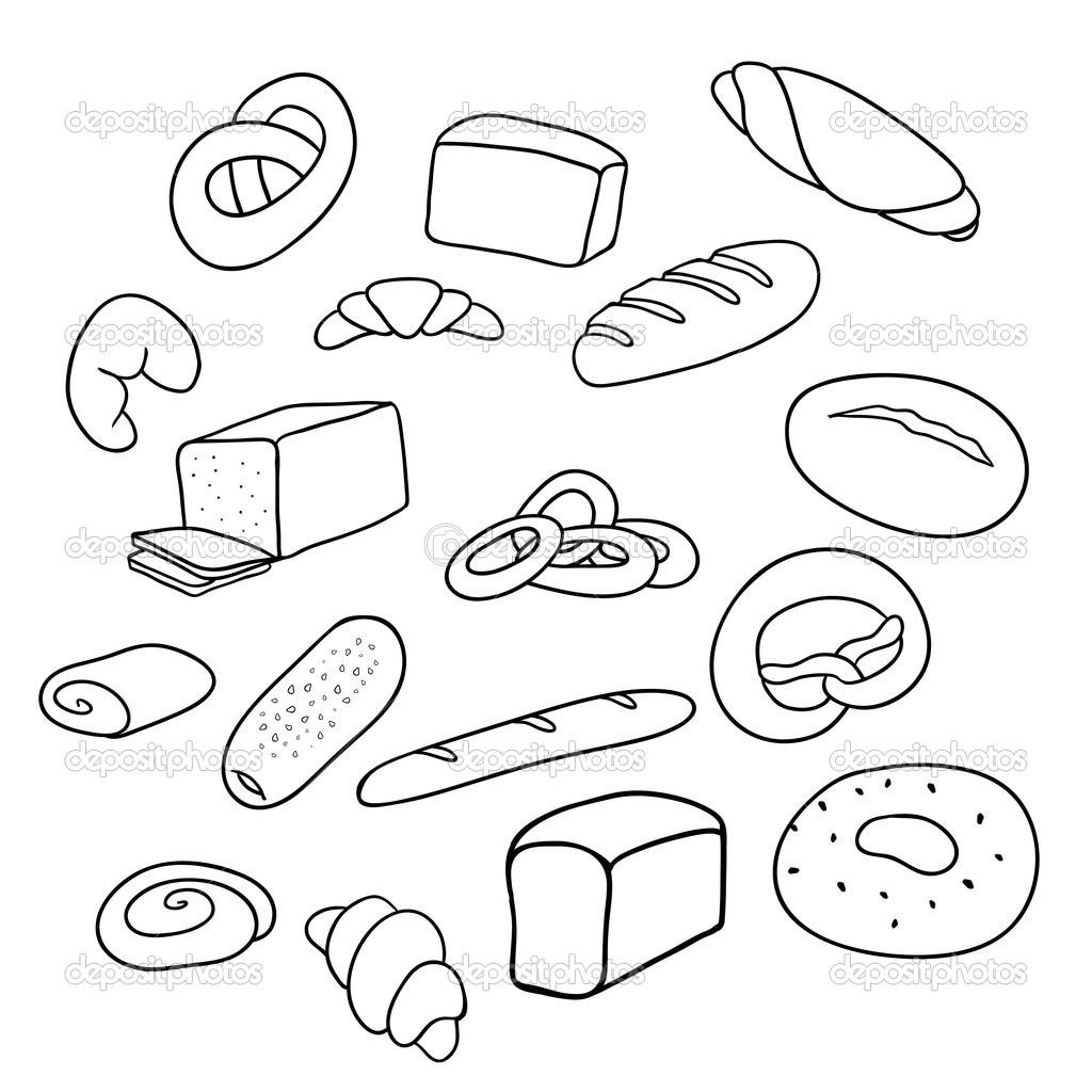 verschillende soorten brood stockvector 169 balakoboz