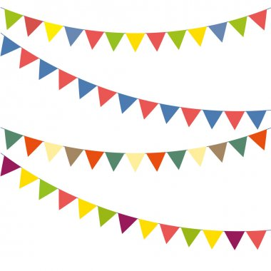Bunting colorful set