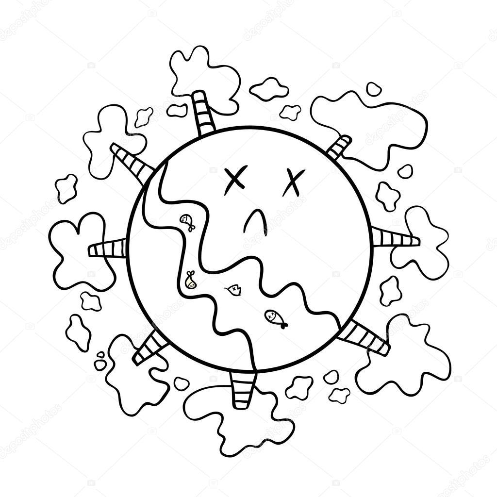 Pollution Of The Planet Stock Vector C Balakoboz 46048347