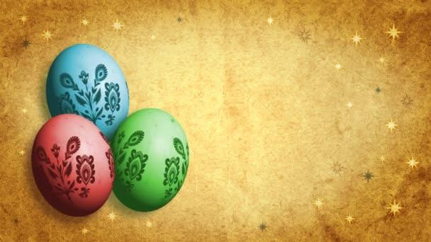 retro velikonoční vajíčka