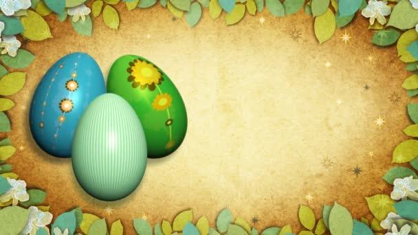 retro velikonoční vajíčka.
