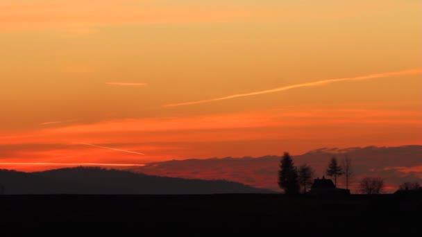 Krásný západ slunce.