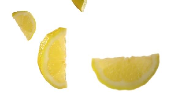 klesající citrony ve studiu