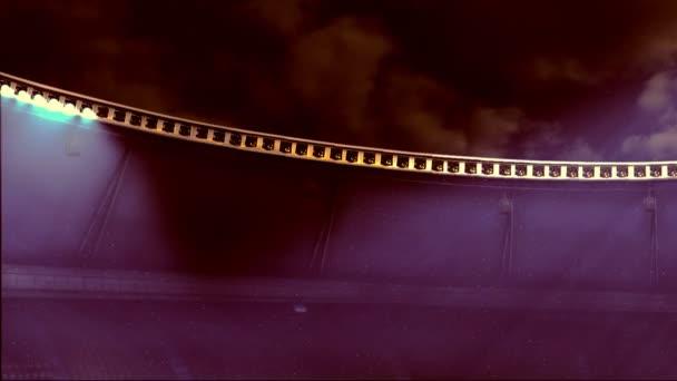 hatalmas stadion fényvetők