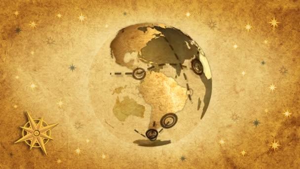 retro cestovní mapa