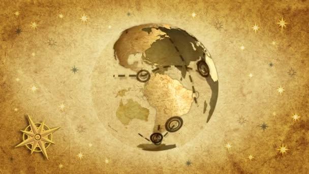 Retro Traveller map